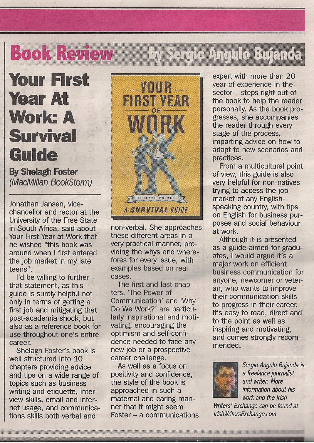 Your First Year of Work review in Metro Eirann